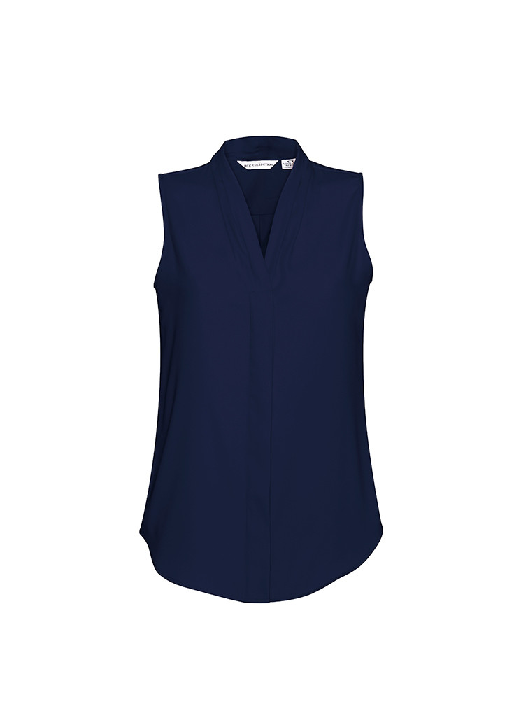 8909af90e2ab0 Business Shirts S627LN - Ladies Madison Sleeveless - Midnight Blue. Midnight  Blue