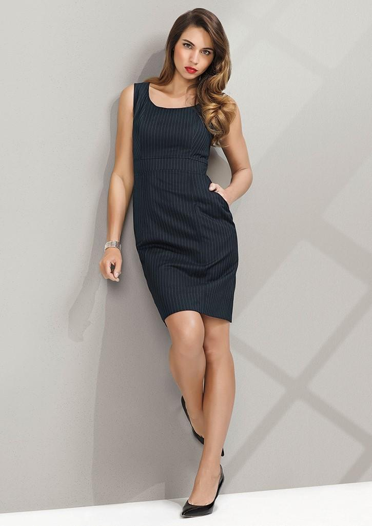 7b6f3fba9467be 30211 - Ladies Sleeveless Side Zip Dress