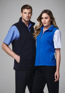 Mens Poly Fleece Vest