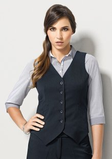 Ladies Peaked Vest with Knitted Back